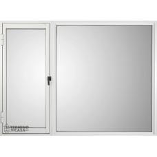 Ventana Clasic  Sureña 1  Hoja De Abrir Y Un Paño Fijo Blanca 1.8x1.1 Derecha