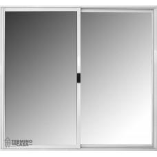 Ventana Basic Aluminio Blanco Vidrio Entero Sin Guia 0.60x0.40