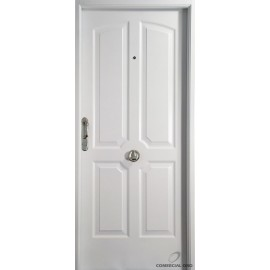 Puerta Nexo De Acero, Linea Deluxe , 4 Tableros Ciega, Inyectada De 90 Cmts Derecha