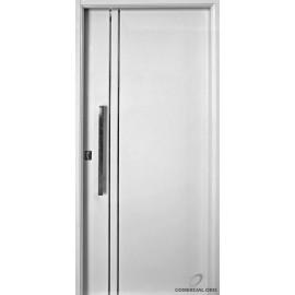Puerta Nexo De Acero, Linea Deluxe , Lisa Con Detalles De Aluminio, Inyectada De 90cmts Derecha