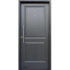 Puerta Nexo De Acero, Linea Deluxe Style , 2 Tableros Ciega C/barral De Aco Inox, Inyectada De 90 Cmts Derecha