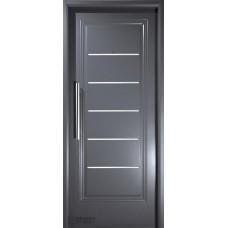 Puerta Nexo De Acero, Linea Deluxe Style , 1 Tablero  C/detalles En Aluminio, Inyectada De 90 Cmts Derecha