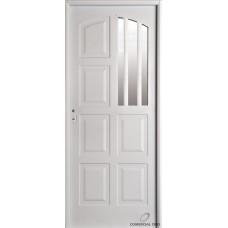 Puerta Nexo De Acero, Linea Intermedia, 8 Tableros, Cuarto Vidrio 86cmts Derecha