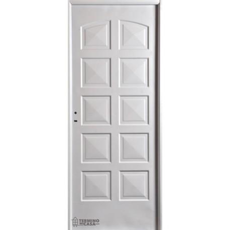 Puerta Nexo De Acero, Simple,  Linea Eco, 10 Tableros, Ciega 86cmts Derecha