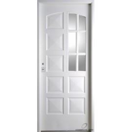 Puerta Nexo De Acero, Simple, Linea Eco, 10tableros, Cuarto Vidrio 84 Cmts Derecha