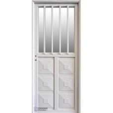 Puerta Nexo De Acero, Simple, Linea Eco, Mh 300, Medio Vidrio 85 Cmts Derecha