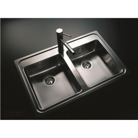 bacha de acero inox para cocina johnson doble q085a 85 5 x On bachas de cocina johnson