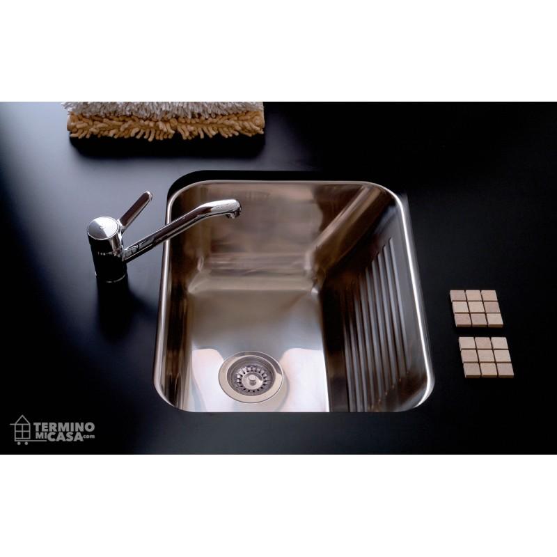 Bacha de acero inox para lavadero johnson ln50 50x40x55 for Lavadero acero inox