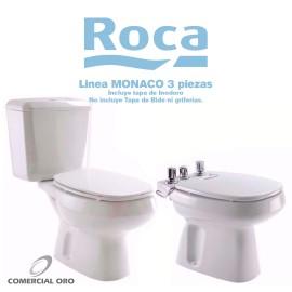 Juego Sanitario Roca Monaco 3 Piezas Largo Con Tapa