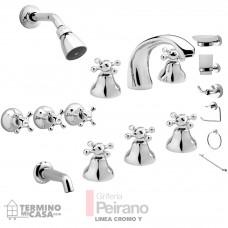 Kit Griferia Cromo Y Cierre Comp C/accesorios