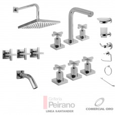 Kit Griferia Santander Cierre Cer C/accesorios