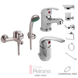 Kit Griferia Lugo Monoc C/accesorios