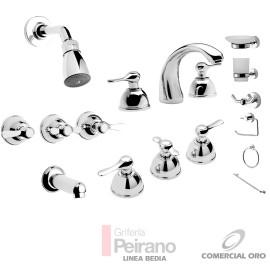 Kit Griferia Bedia Cierre Cer C/accesorios