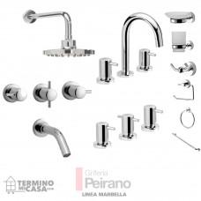 Kit Griferia Marbella Cierre Cer C/accesorios