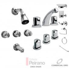 Kit Griferia Dique Cierre Comp C/accesorios