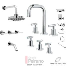 Kit Griferia Mallorca Cierre Cer C/accesorios