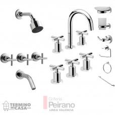 Kit Griferia Valencia Cierre Cer C/accesorios