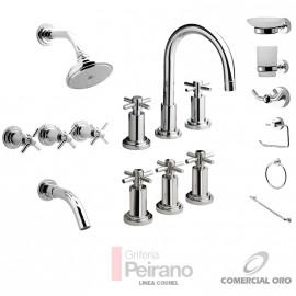 Kit Griferia Courel Cierre Cer C/accesorios