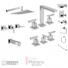 Kit Griferia Castilla Cierre Cer C/accesorios