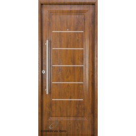 Puerta foliada Nexo Deluxe Wood 90 cm Nogal Derecha 1 Tab