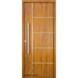 Puerta foliada Nexo Deluxe Wood 90 cm Roble Derecha 5 Tab