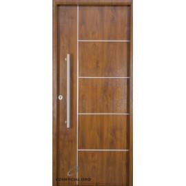 Puerta foliada Nexo Deluxe Wood 90 cm Nogal Derecha 5 Tab