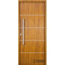Puerta foliada Nexo Deluxe Wood 90 cm Roble Der c/detalles aluminio
