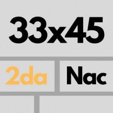 Cer Nac 33 X 45 2da