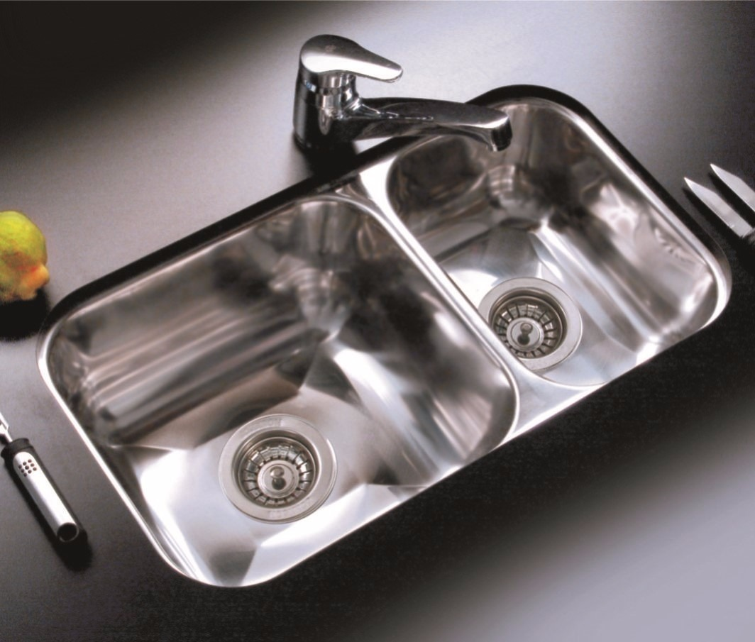 bacha de acero inox para cocina johnson doble r63 18 63 8 On bachas de acero inoxidable