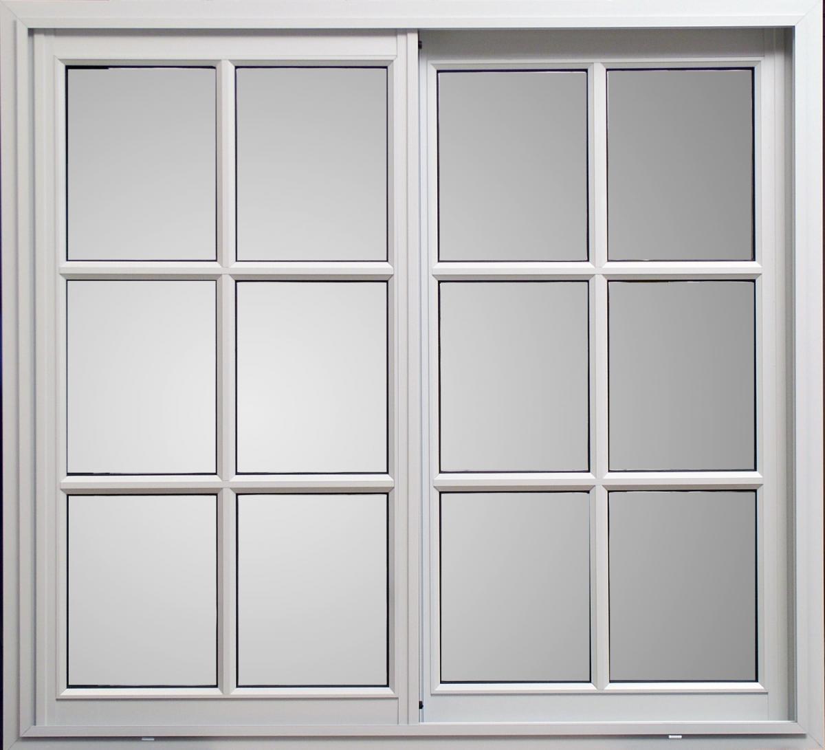 Ventana clasic vidrio repartido sin guia x for Aberturas de pvc en cordoba capital